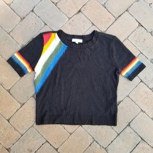 urban outfitters Cooperative rainbow crop sweater
